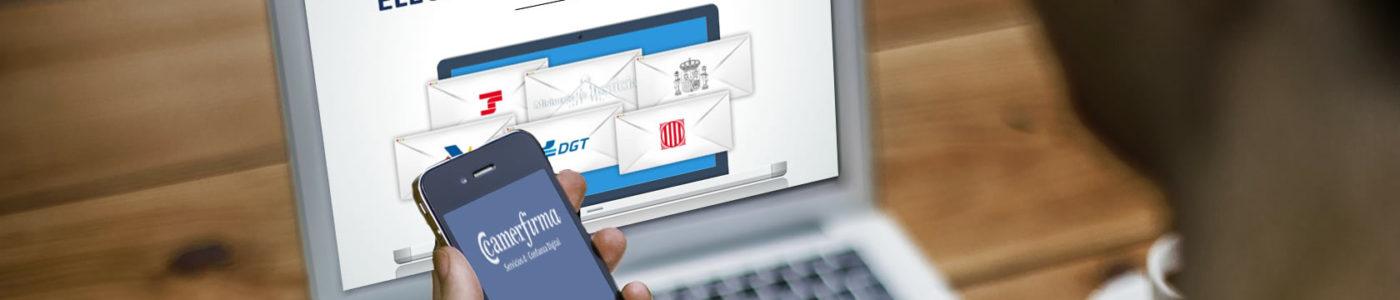 Notificaciones electronicas de administraciones públicas mediante Portal Neos